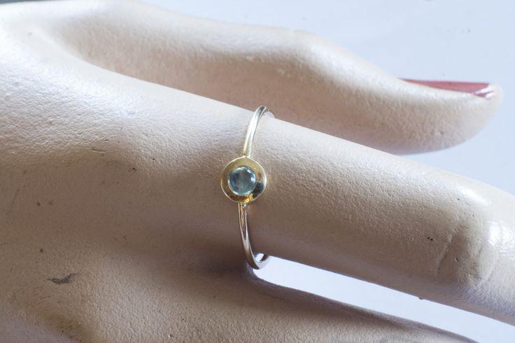 ♥♥♥ niebieski topaz 585 złoty pierścionek w Arpelc Biżuteria Ze Złota i Platyny na DaWanda.com