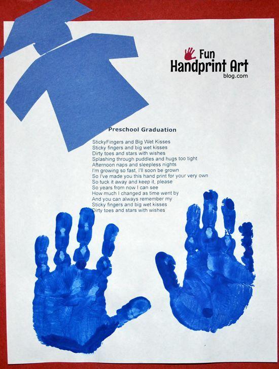 Keepsake Graduation Poem with Handprints for Preschoolers