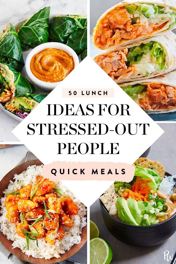 50 Easy Lunch Ideas For Stressed Out People Vegetarian Lunch Easy Lunch Recipes Lunch