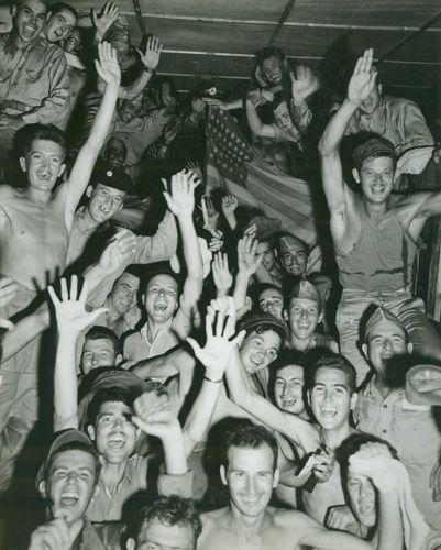 Aomori camp Allied POWs cheer