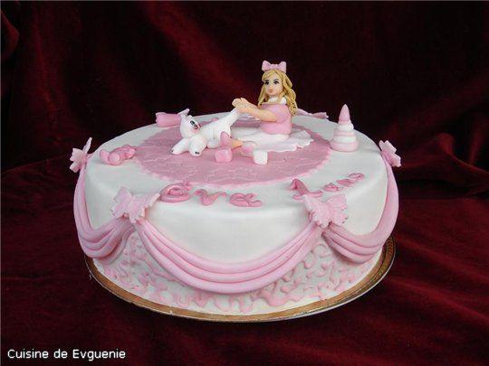 Торт для новорожденной девочки