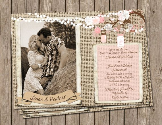 Hey, I found this really awesome Etsy listing at https://www.etsy.com/listing/187216997/pink-rustic-wedding-invitation-burlap