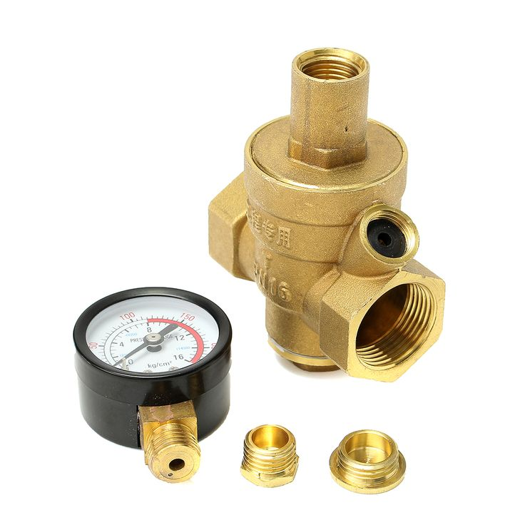 Brass 1.6MPA DN20 RV Water Pressure Regulator Lead Free Pressure Reducer Gauge