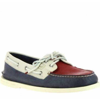 Sperry Men's A/O 2-Eye Shoes Red/Cement/Dark Blue Sperry Top-Sider. $90.00