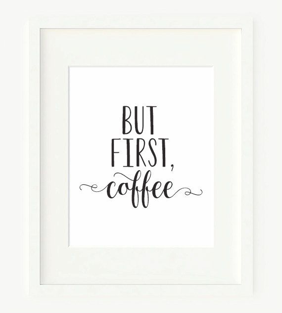 But First, Coffee Printable Art Print 8x10 Black and White Kitchen Printable…
