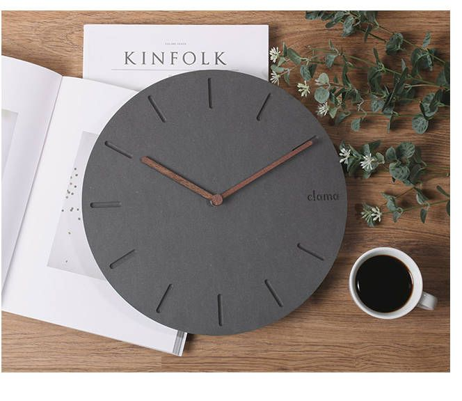 minimal clock/modern clock/wooden minimal decor clock/wood Scandinavian clock/wall art color white wood/Round Clock/Living Room Decor clock by BeautyOfPrints on Etsy