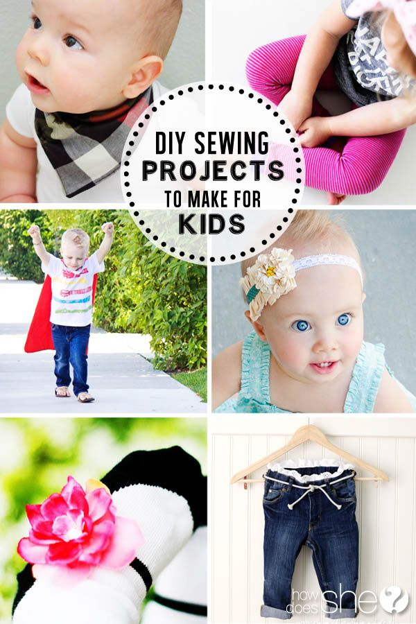 DIY Sewing Projects to Make for the Kids | How Does She