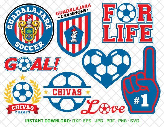 Guadalajara Svg, Logo Clipart, Chivas Soccer, dxf, svg, png Files, Cutting Files, Clipart, Club Deportivo Guadalajara Cliparts, 24-MLS