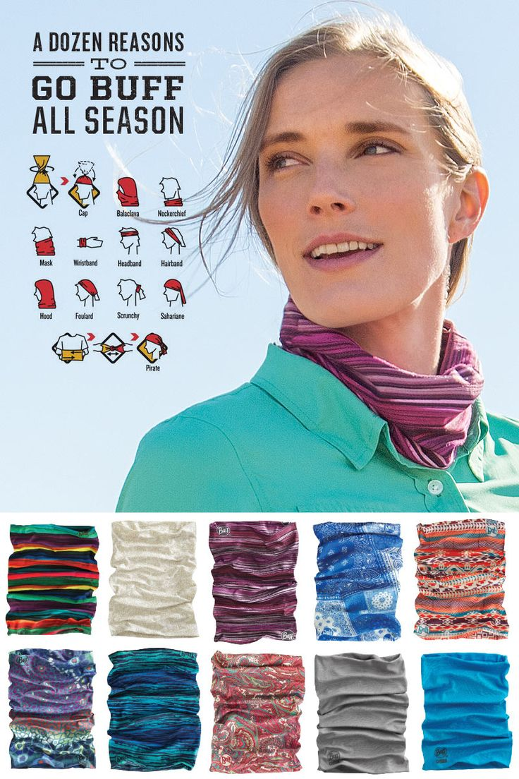 Women's Buff Headbands from Duluth Trading Company are the quick-wicking, cool way to tame hair on hot days! Even better? You can wear 'em 12 ways.