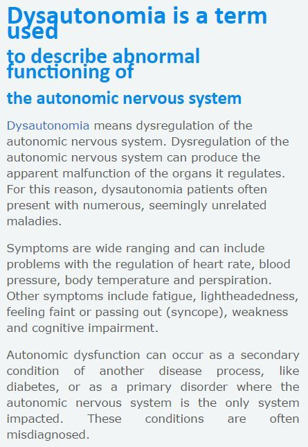 Dysautonomia Information Network website & online resources