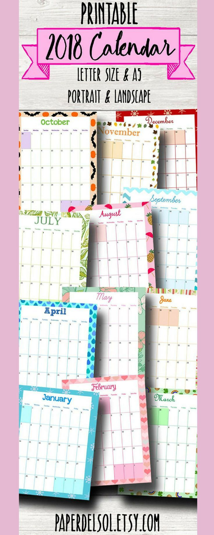 short and sweet resignation letter%0A Ooohhh  Pretty printable calendar pages for your planner  Monthly       Calendar A   Printable