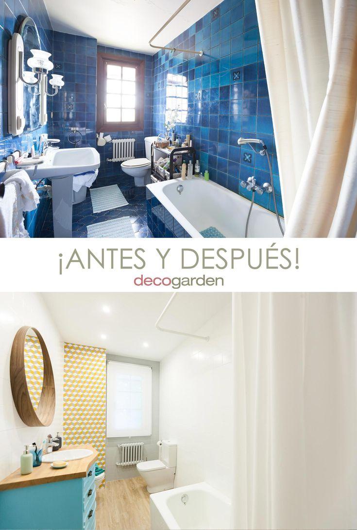 baño retro luminoso - antes y después #Decogarden Home Staging, Grands Pots, Inspirations Magazine, Decoration, Ideas Para, Bathtub, Interior Design, Bathroom, House Styles