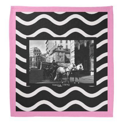 #vintage - #Vintage Austria Vienna Dreimaderlhaus Fiaker Bandana