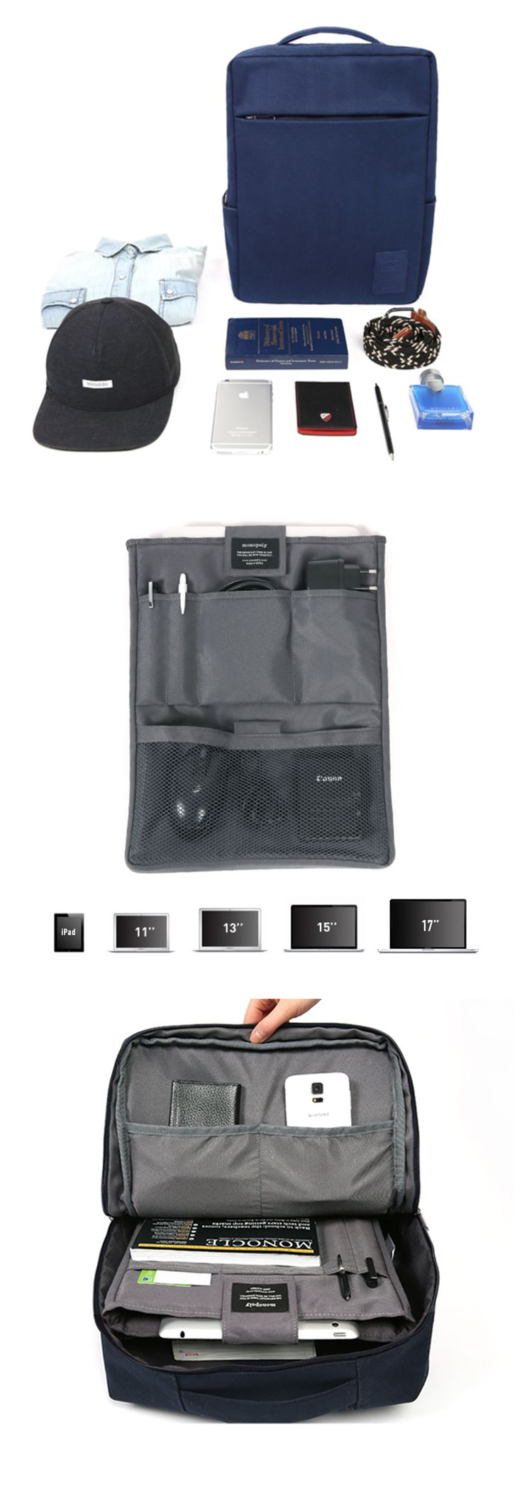"""I absolutely love this super organized backpack! The really neat thing about this backpack is that it comes with a detachable organizer insert that contains numerous pockets to store laptops up to 17"""", iPad, and other electronics too. There's even space to store your charger, mouse, stylus, and more. The backpack is quite spacious as you can store books, supplies, and even clothing all in one outing! Additional colors in Mild Khaki, Monaco Blue, & Ebony Gray are now available at…"""