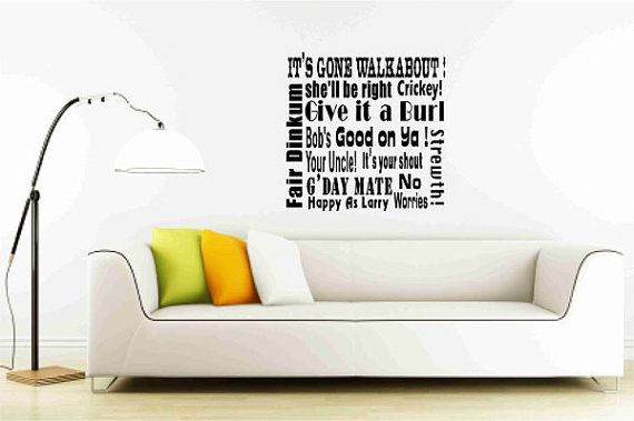 Australian Slangs and Expressions Wall Vinyl Decal by Popitay