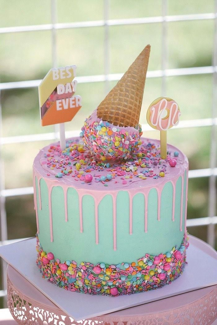 Cake With Carrot And Ham Recipe In 2020 Ice Cream Birthday