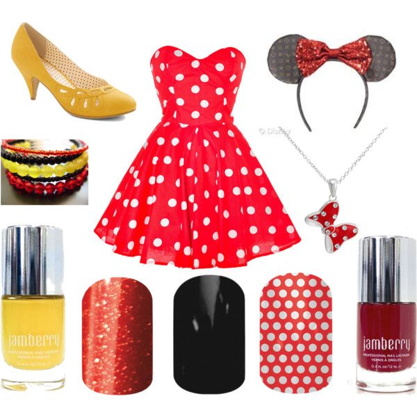 """""""Minnie Mouse Jamberry Style"""" sarahpturner.jamberrynails.net"""