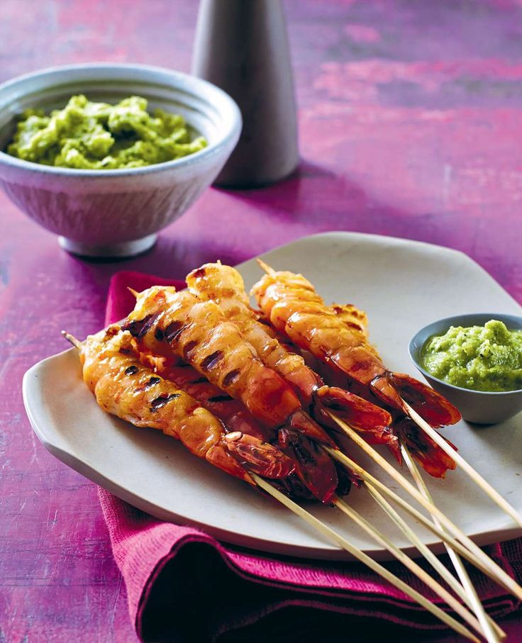Churrasco prawns with aji sauce by Lyndey Milan from Taste of Australia | Cooked