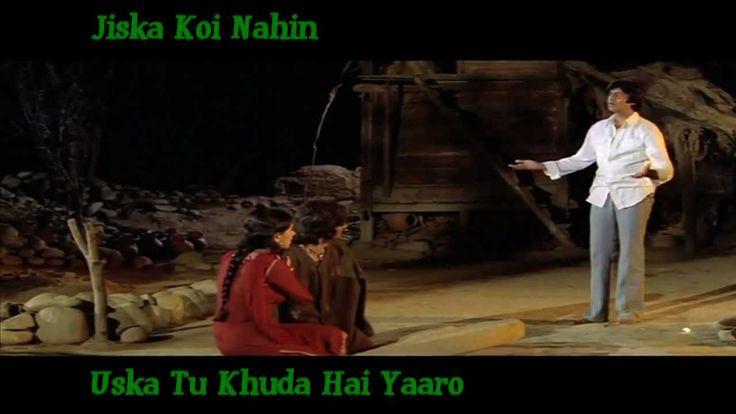 Jiska Koi Nahin Uska Tu Khuda Hai Yaaro - Kishore Kumar - Laawaris (1981...