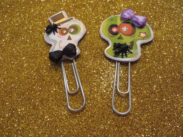 A Cute Couple Skeleton Paperclip by christinecreationscm on Etsy