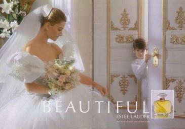 Estee Lauder's Beautiful perfume ad with Paulina Porizkova.