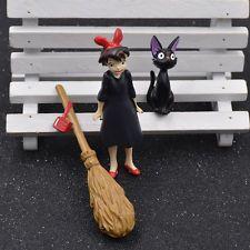 3pcs Kiki's Delivery Service Cartoon Cat Kiki Besom Statue Home Ornament Decor