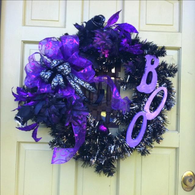My new Halloween wreath! Boo! : Spooctaular Ideas, Halloween Wreaths, Great Ideas