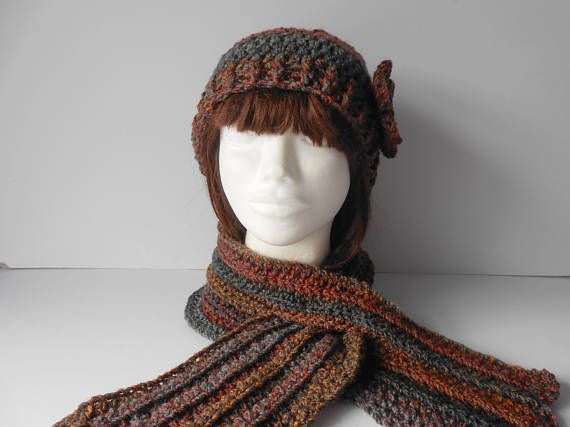 Hat and Scarf Set. Women's Scarf and Hat Set. Gift for