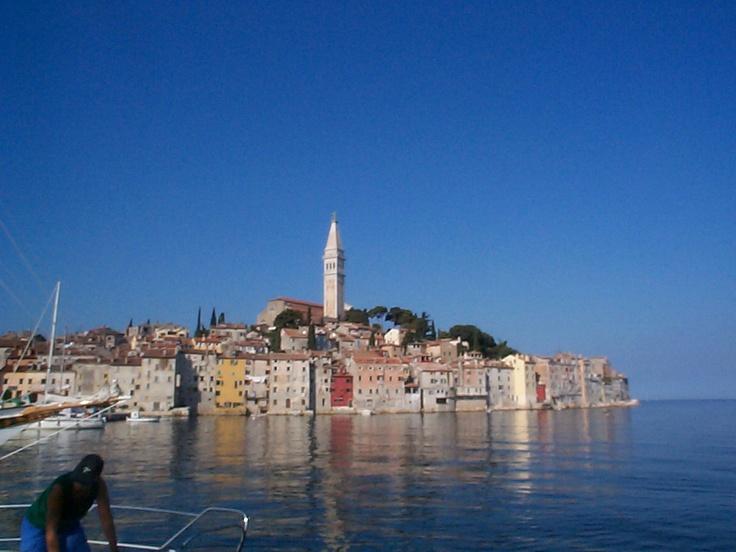 Rovinj na Istrijském poloostrově