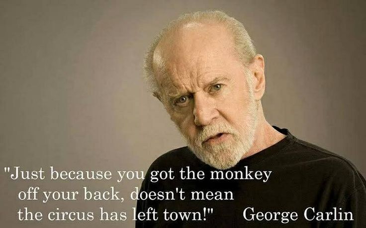 George Carlin addiction recovery