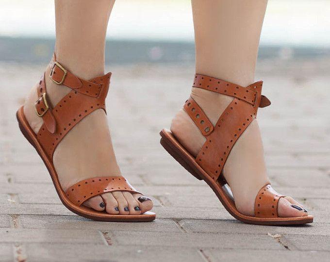 Sandalias para mujer, sandalias planas, zapatos de