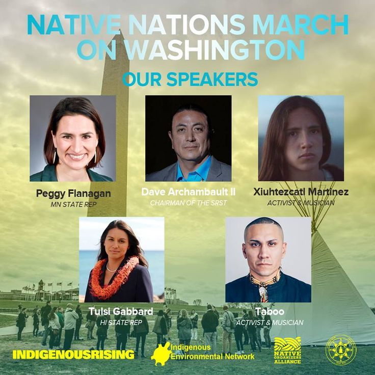 We are excited to gather with thousands of Indigenous Peoples and our allies who will rise with us tomorrow in Washington D.C.  Speakers include Chairman Dave Archambault II, Xiuhtezcatl Martinez Taboo (Black Eyed Peas), State Representative Peggy Flanagan , Tulsi Gabbard and many others.  https://www.facebook.com/events/1613602328655390