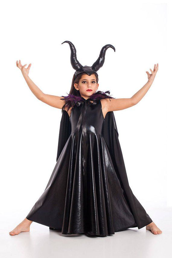 Maleficent Horned Headpiece Halloween Costumes Kids