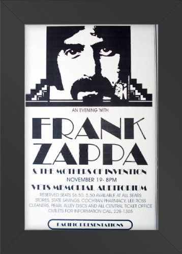 Poster Print Frank Zappa Mothers of Invention Vets Memorial 1976 Concert