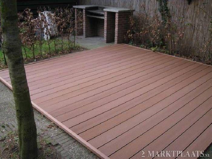 Composiet terras dit heeft mijn voorkeur als verharding van het terras sluit mooi aan bij hout - Terras van huis ...