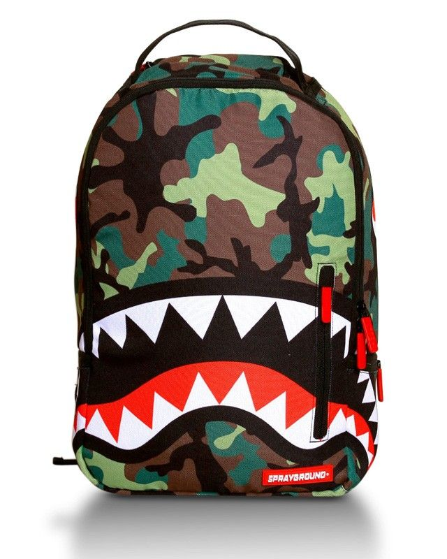 The Camo Shark Backpack by Sprayground $55 | For Men ...