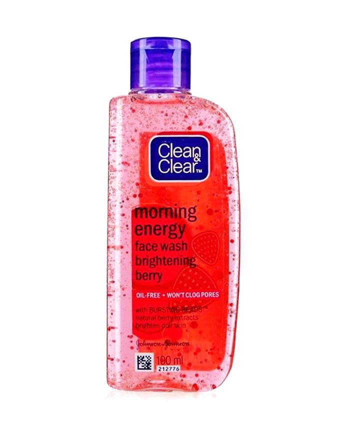 Clean Clear Morning Energy Berry Face Wash 100ml Face Wash Oil Free Moisturizers Moisturizer