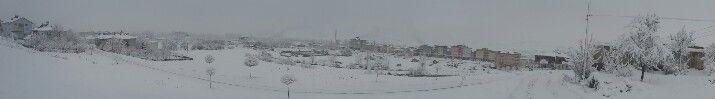 #göksun #panoramik #kar 2015 #manzara #kış