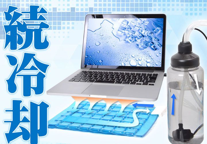 Cooling Gel Pad Boosted By Usb Water Pump Laptop Cooler Unique