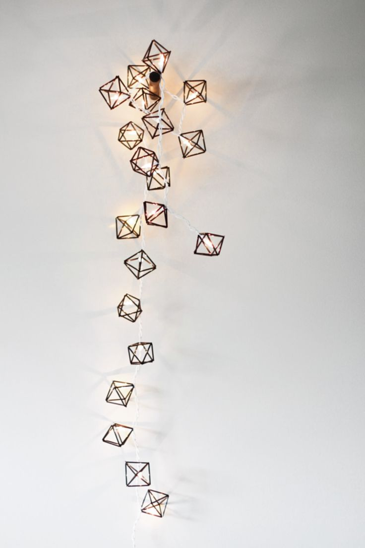 etsy (amradio): himmeli miniature light strand - modern geometric sculpture. $77.00
