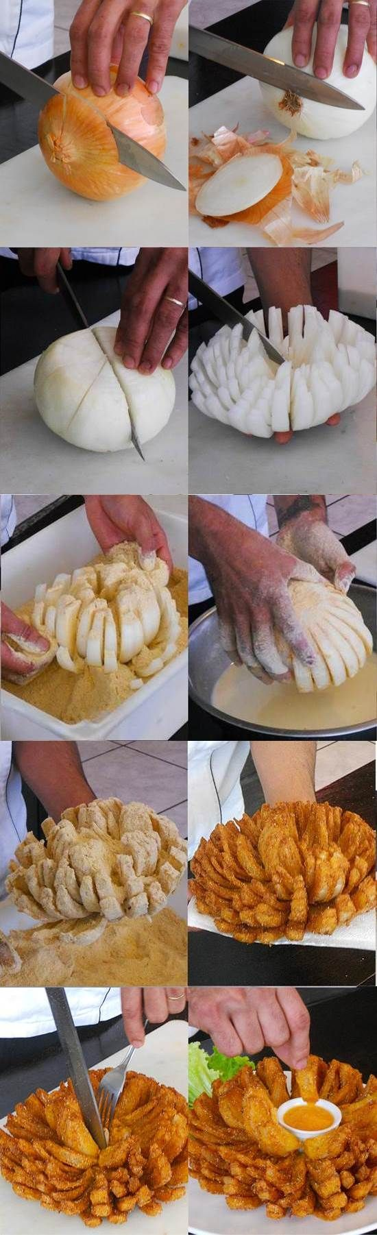 Blooming Onion Recipe @Jacklyn Chandler Chandler Keller  @Kara Morehouse Morehouse Fortenberry