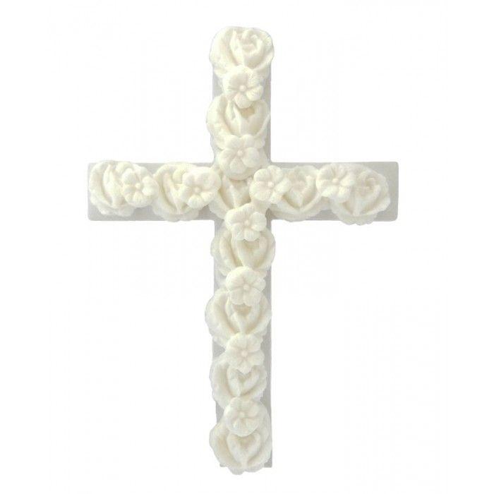 Σταυρός για δίσκο μνημοσύνου λευκός 13.5x10 cm | Εφοδιαστική
