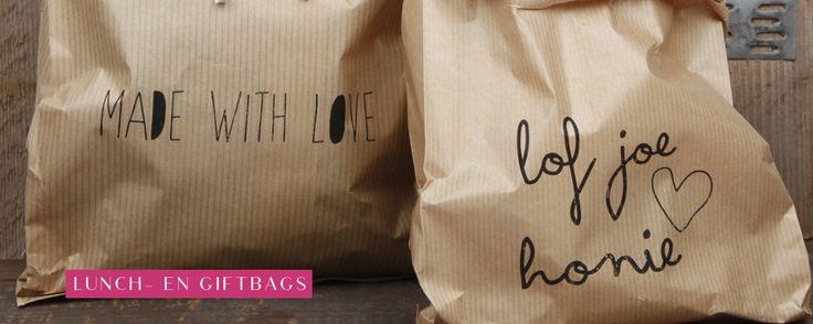 | Giftbags en lunchbags by www.sascrea.nl |   Ook verkrijgbaar bij #WebshopsOnly #conceptstore, Vughterstraat 47 's-Hertogenbosch / Den-Bosch. |