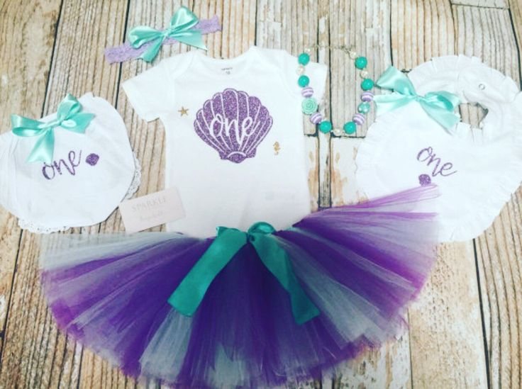 Mermaid Outfit / First Birthday Outfit Baby Girl / Mermaid birthday / Under the sea birthday outfit  / Mermaid 1st Birthday out by BespokedCo on Etsy https://www.etsy.com/listing/279136638/mermaid-outfit-first-birthday-outfit