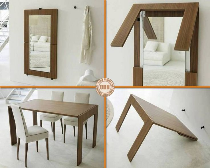 Bothu2026 A Mirror Unfolds Into A Modern Contemporary Folding Dining Table. The  Folding Dining Table From. Find This Pin And More On Space Saving Furniture  ...