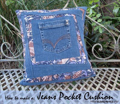 Подушка из джинсов для садовой скамейки (9) (510x443, 281Kb)