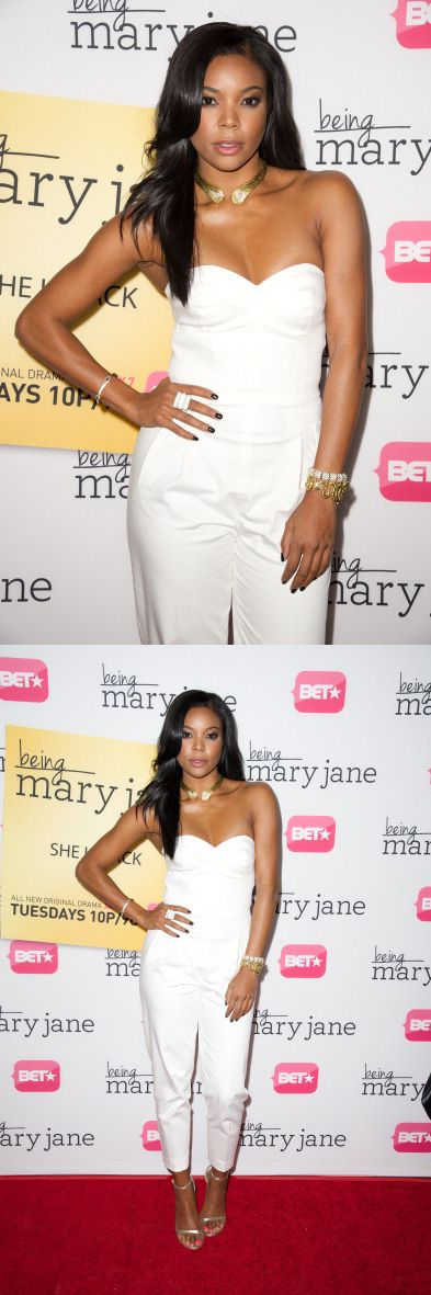 Gabrielle Union promoting 'Being Mary Jane.' Makeup by Fiona Stiles. Styling by Rachel Zoe.