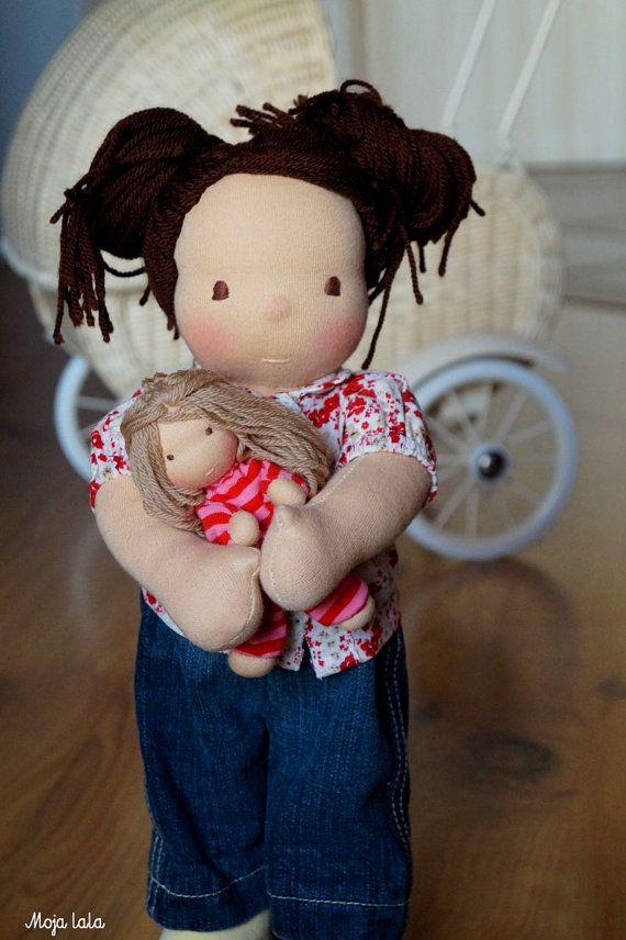 Reserved. Laura Waldorf doll. Cloth doll. Waldorf by Mojalala