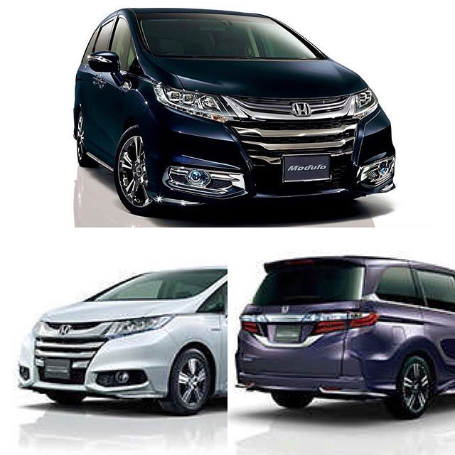 The 2016 Honda Odyssey Hybrid (in Japan)  will be powered by a Honda Sport Hybrid engine with i-MMD rated at 60mpg   Fully automatic climate control with a new Plasmacluster technology. #HondaOdyssey #Honda #HondaLove  #Japan