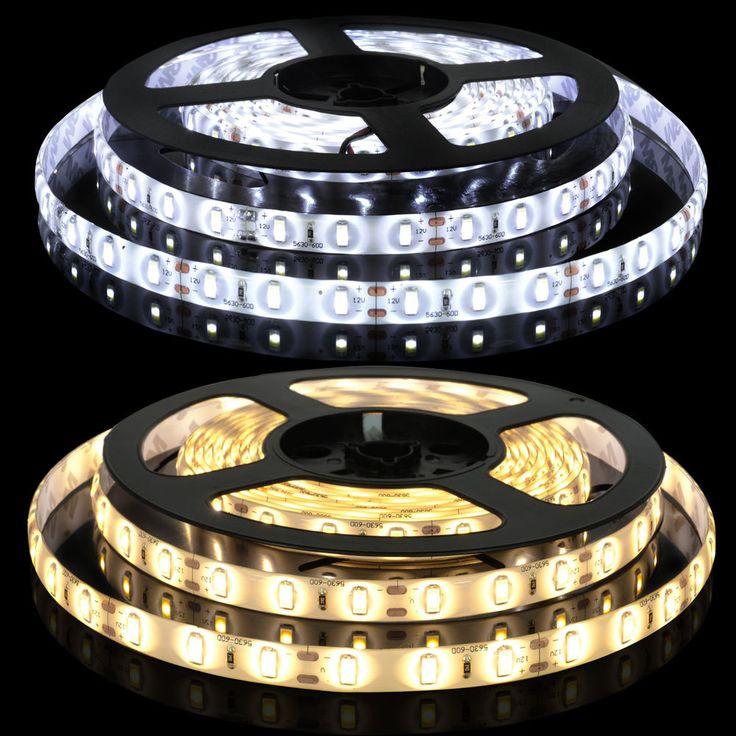 5M 300 LED Strip Light 3528 5050 5630 SMD 12V LED Flexible Light Waterproof in Home, Furniture & DIY, Lighting, Fairy Lights | eBay